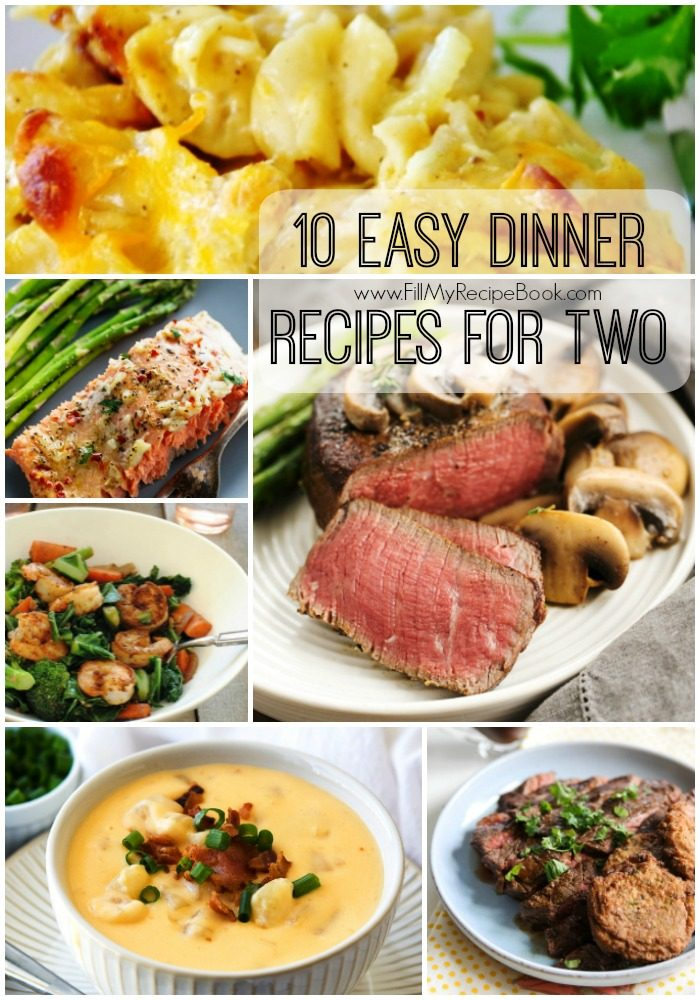 10 Easy Dinner Recipes For Two Fill My Recipe Book