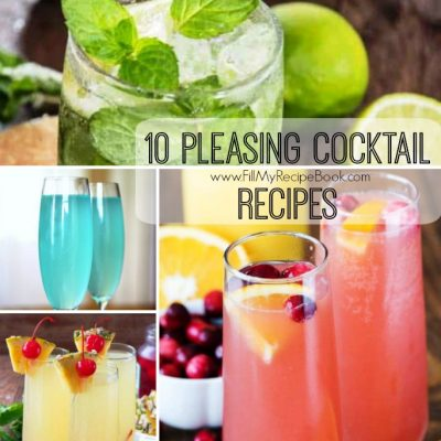 10 Pleasing Cocktail Recipes