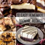 10 Easy Homemade Brownie Recipes
