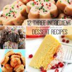 12 Three ingredient dessert recipes