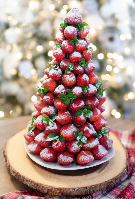 christmas desserts chocolate covered strawberry christmas tree - Christmas Chocolate Covered Strawberries