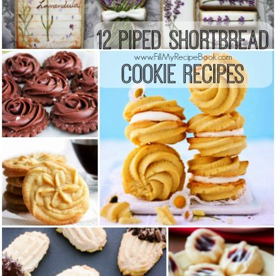 12 Piped Shortbread Cookie Recipes