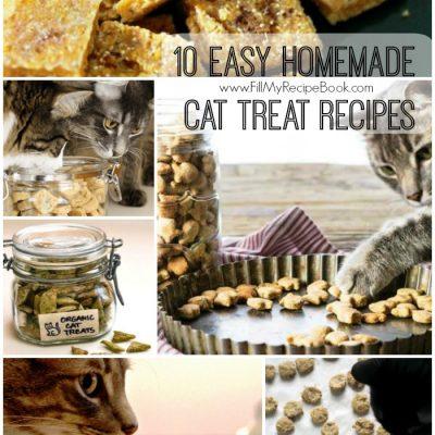 10 Easy Homemade Cat Treat Recipes