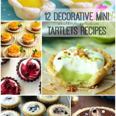 12 Decorative Mini Tartlets Recipes
