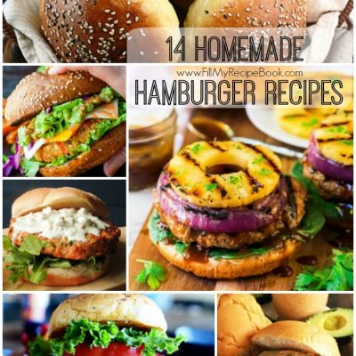 14 Homemade Hamburger Recipes