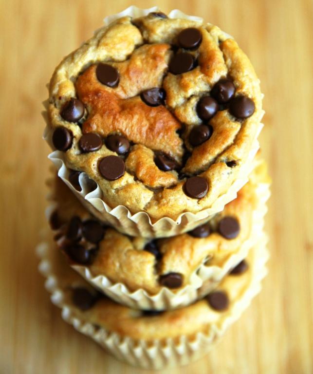banana Greek yogurt and oat muffins