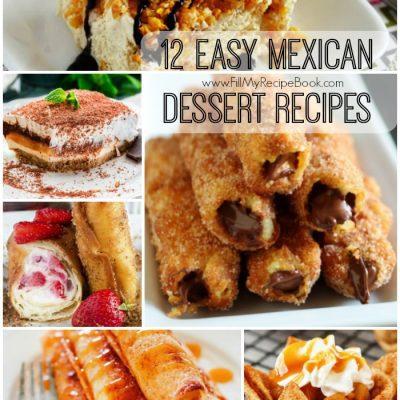 12 Easy Mexican Dessert Recipes