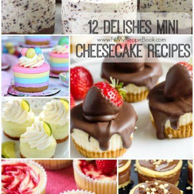 12 Delishes Mini Cheesecake Recipes