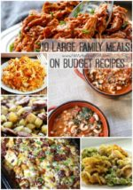 10 Large Family Meals on Budget Recipes