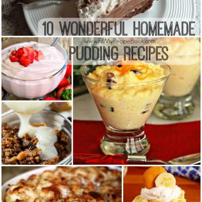 10 Wonderful Homemade Pudding Recipes