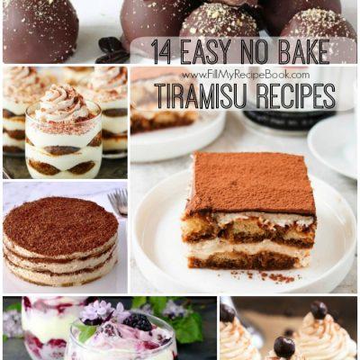 14 Easy no Bake Tiramisu Recipes
