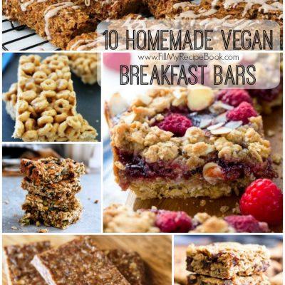 10 Homemade Vegan Breakfast Bars