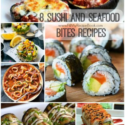 8 Sushi and Seafood Bites Recipes