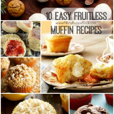 10 Easy Fruitless Muffin Recipes