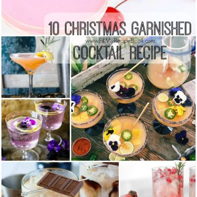 10 Christmas Garnished Cocktail Recipe