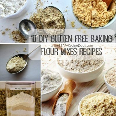 10 DIY Gluten Free Baking Flour Mixes Recipes