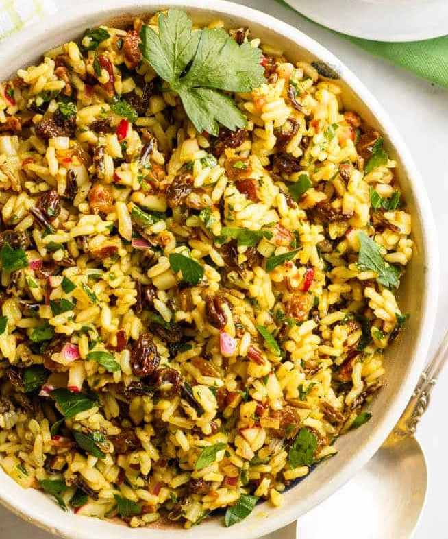 Curried Wild Rice Salad With Raisins
