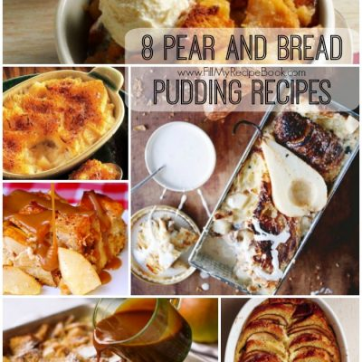 8 Pear and Bread Pudding Recipes