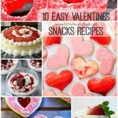 10 Easy Valentines Snacks Recipes