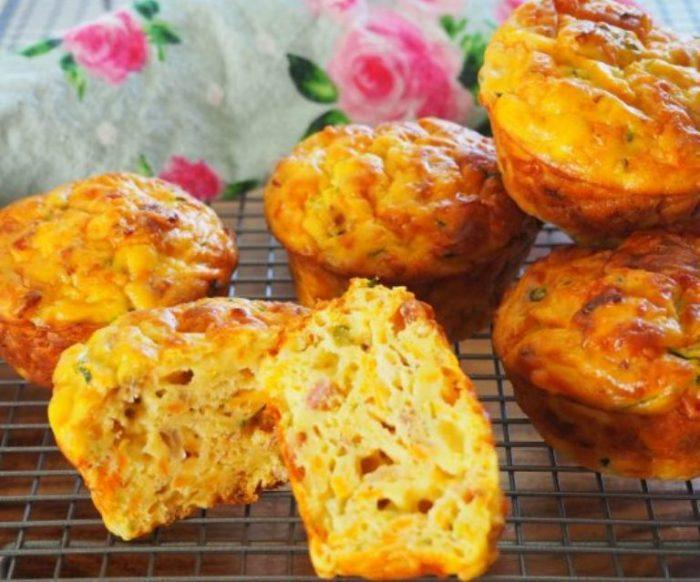Zucchini-sweet-potato-savoury-muffins
