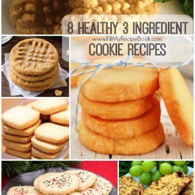 8 Healthy 3 Ingredient Cookie Recipes