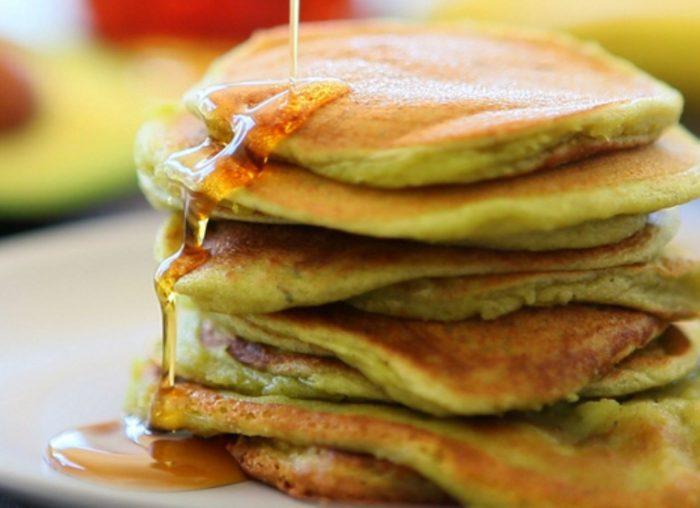 Banana-avocado-almond-pancakes