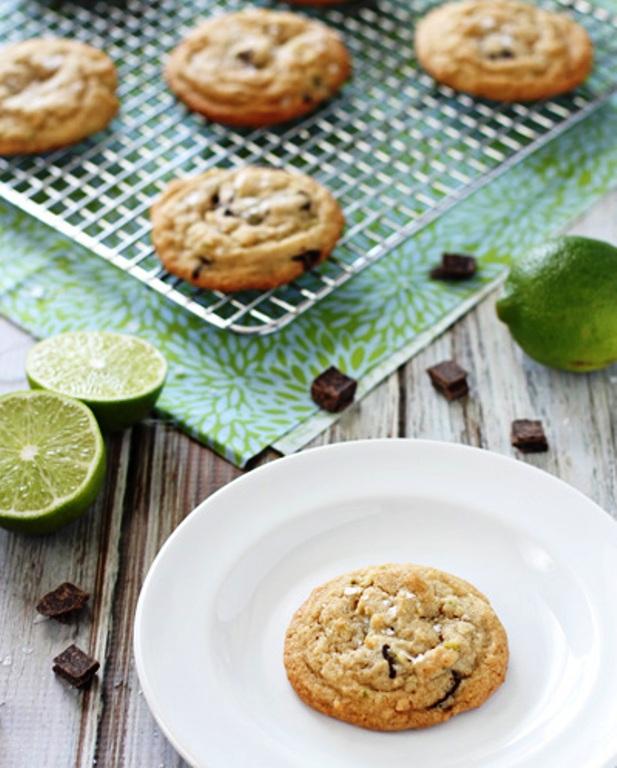 Lime-dark-chocolate-chunk-cookies