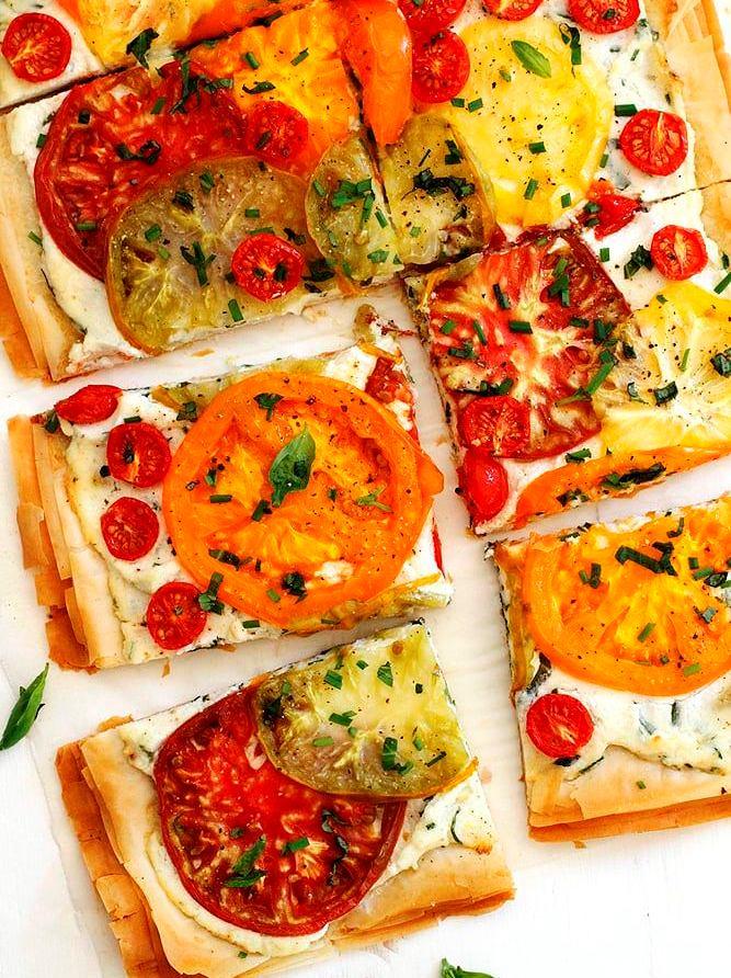 Tomato-ricotta-phyllo-tart