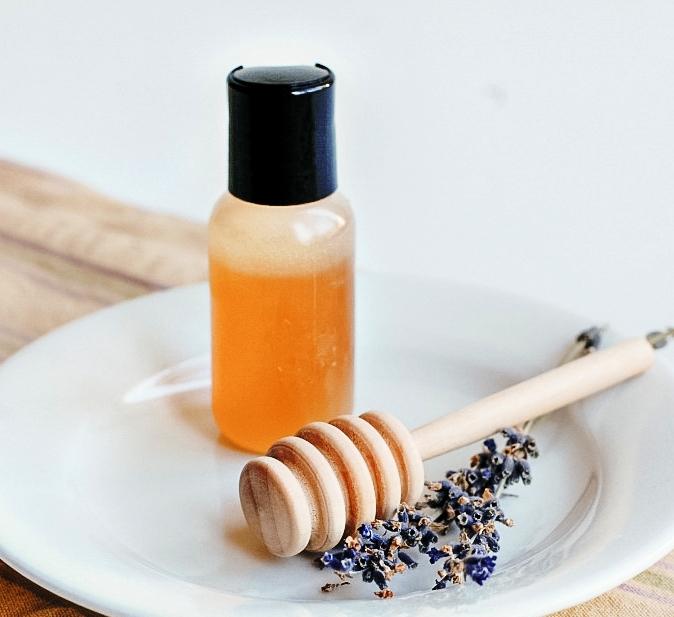 Homemade-lavender-honey-face-wash