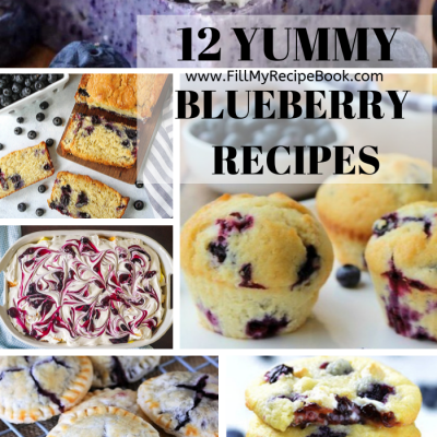 12 Yummy Blueberry Recipes