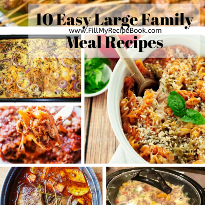 10 Easy Large Family Meal Recipes