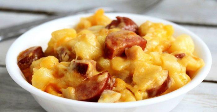 Slow-cooker-sausage-and-potato-casserole
