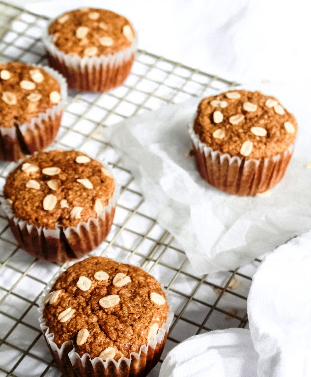 oat flour and banana muffins