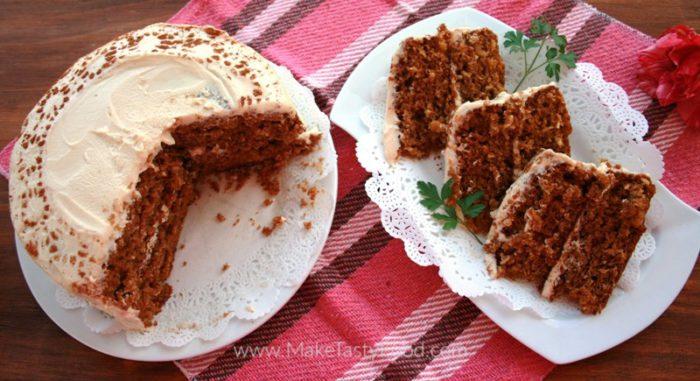 tasty moist carrot cake