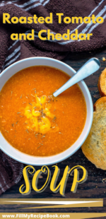 Roasted Tomato and Cheddar Soup