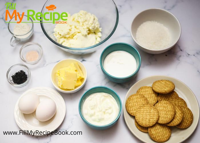 ingredients for amazing earl grey baked cheesecake