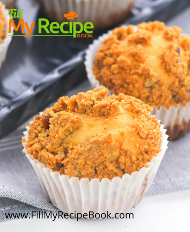 baked pecan crumbed muffins