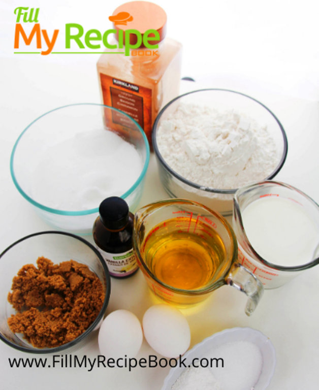 ingredients for the pecan muffins