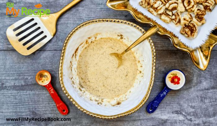 process for cinnamon roll breakfast casserole