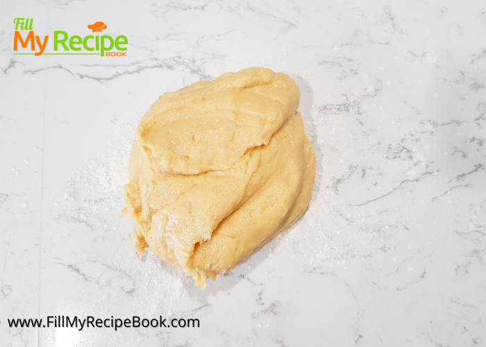ready process of the dough for cream cheese kolache