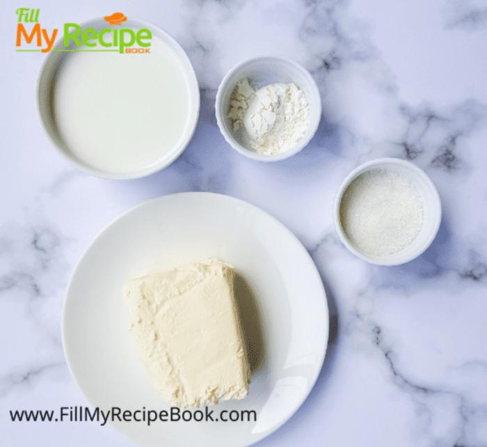 ingredients for cream cheese kolache