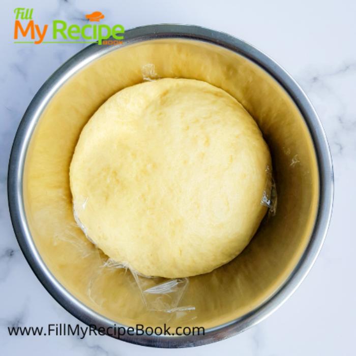rising of dough process of the cream cheese kolache
