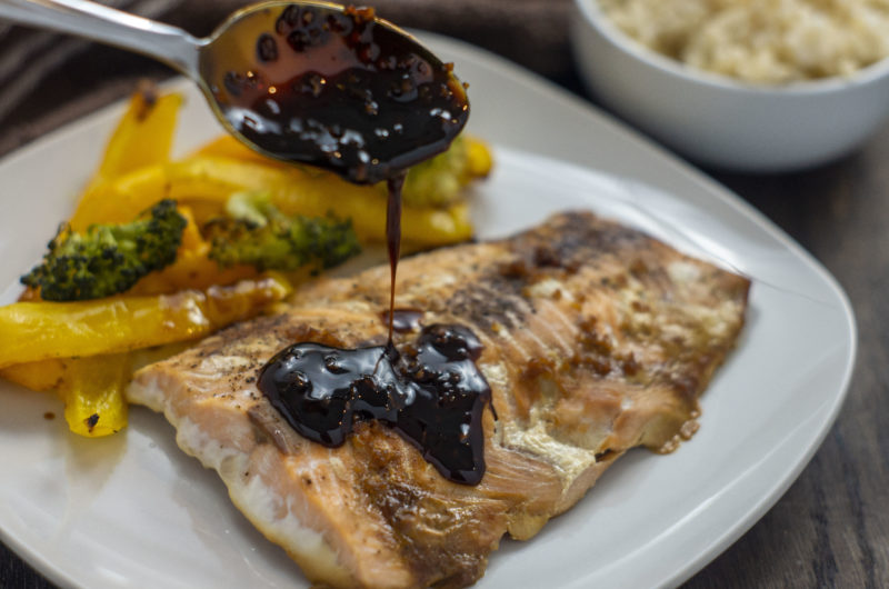 Soy and Molasses Glazed Baked Salmon