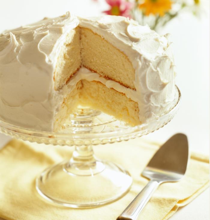 A tasty vanilla cake
