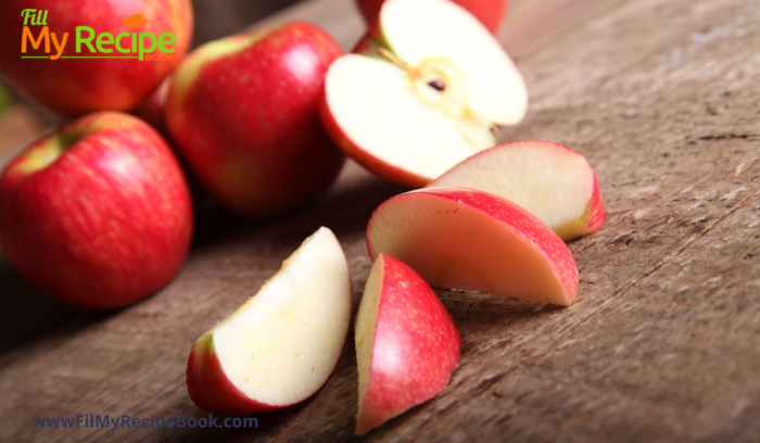 cut sweet apples for apple & cranberry stuffed chicken breasts