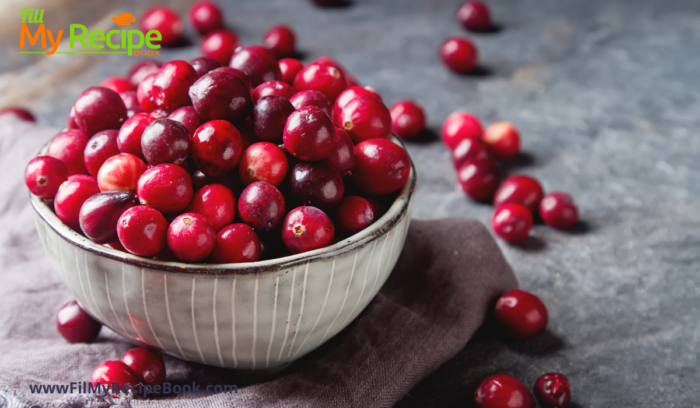 cranberries for apple & cranberry stuffed chicken breasts