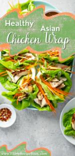 Healthy Asian Chicken Wrap