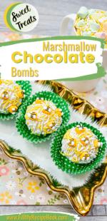 Easy Marshmallow Chocolate Bombs