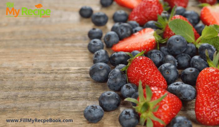 berries like strawberries and blueberries