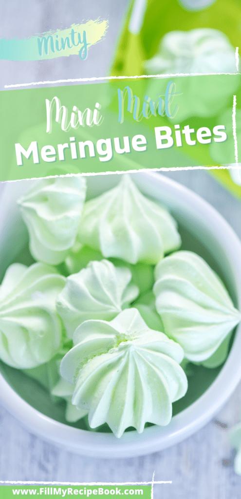 pinterest photo on mini mint meringue bites